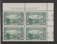 CANADA 1939 50c PERF.'O.H.M.S.' IN PLATE BLOCK SG O129 MNH.