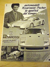 PUBBLICITA' ADVERTISING WERBUNG 1991 FERRARI F40 RIVAROSSI POCHER (Q432)