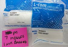 (NEW) L-Com MD66FF Mini din 6 Feed Thru Adapter LCOM