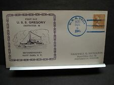 USS GREGORY DD-82 Naval Cover 1940 RECOMMISSIONED Cachet USS VEGA SUNK WWII