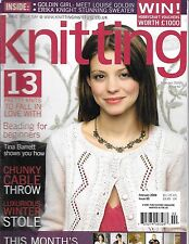Knitting magazine Fall knits Beading for beginners Chunky cable throw Stole