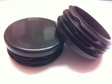 "24 Plastic Black Blanking End Cap Caps Round Tube Pipe Inserts 50mm 2"" Bunk Bed"