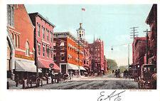 Nashua NH Main Street Horse & Wagons Store Fronts Postcard