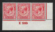 1d Scarlet Block Cypher Control I28 imperf UNMOUNTED MINT/MNH
