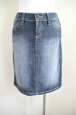 Esprit Size 6  Casual blue denim stretch jean design skirt Knee length