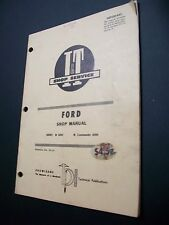 FORD TRACTOR I&T SHOP MANUAL #FO-22  SERIES 6000 & COMMANDER 6000