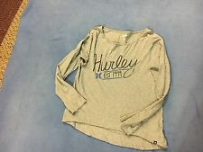 Hurley Women's NWOT Black & Blue & Gray Long Sleeve Shirt. Size Small.