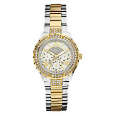 NEW GUESS WATCH for Women * Gold Two Tone Stainless Steel Multi-Function U0111L5