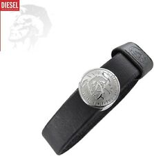 DIESEL MEN'S LEATHER BRACELET ONLY THE BRAVE DX0716