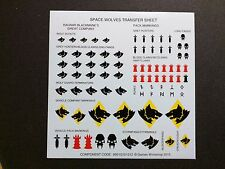 Warhammer 40k Space Marines Space Wolves Transfer Sheet Bits