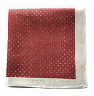Frederick Thomas maroon and white pin spotted pocket square handkerchief FT1664