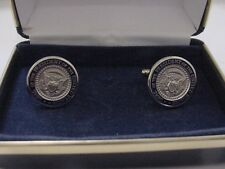 Pair of   president-elect TRUMP  cufflinks - silver color