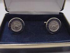 Pair of   president  TRUMP  cufflinks - silver color