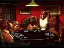 Dogs Playing Magic - full color poster, autographed