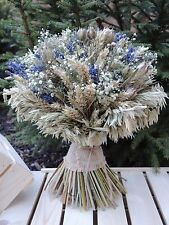 Dried Lavender Baby's Breath Flowers Wheat Bouquet/Sheaf Harvest Wedding 13""