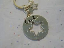 AUTHENTIC COACH  STAR FOB KEY CHAIN WITH RHINESTONES SPARKLY KEYRING 93040