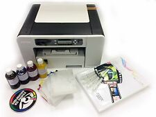 A4 Dye Sublimation Printer Package RICOH SG3110DN + Refill Carts + Ink + Paper