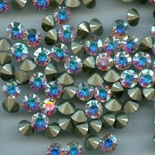 1088 SS29 CI*** 10 strass Swarovski fond conique 6,2mm CRYSTAL AB F