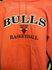 Chicago Bulls NBA Pink Hoodie Sweatshirt Champion WOMEN's Size L Large Stitched