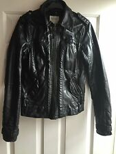Bershka Black Leather Jacket Size M