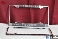 1968 GM License Pontiac Firebird Front Rear License Plate Tag Holder Frames New