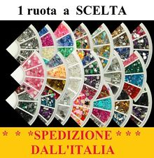 RUOTA  Brillantini Strass Glitter Stickers NAIL ART Unghie Design Decorazione