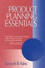 Product Planning Essentials by Kenneth B. Kahn (2000, Paperback)