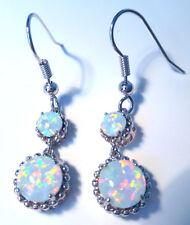 Splendidi orecchini bianco opale di fuoco