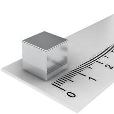 20 STÜCK NEODYM POWER MAGNET WÜRFEL 10x10x10mm N52 VERNICKELT BESTPREIS