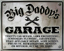 Big Daddy's Garage Metal Sign