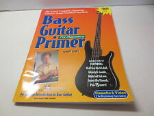 Bass Guitar Primer For Beginners by Bert Casey with CD paperback