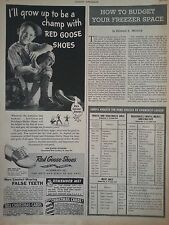 1945 Red Goose Shoes Grow To Be Champ Boy Childrens Baseball Original Ad