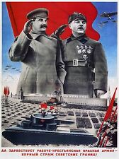 PROPAGANDA MILITARY RED ARMY STALIN SOVIET UNION ART POSTER 880PYLV