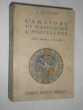MANUALI HOEPLI - L.DE MAURI - L'AMATORE DI MAIOLICHE E PORCELLANE - 1956
