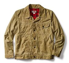 FILSON Short Lined Wax Cruiser Jacket Coat Medium Tan/Alaskan Plaid NWT $295