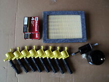 COMPLETE TUNE UP KIT 8+COILS YELLOW+ 8 PLUG SP515+ AIR, GAS, OIL FILTER