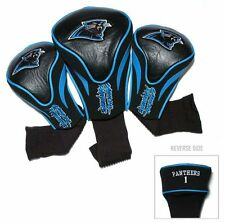 Carolina Panthers Golf Club 3 Piece Headcover Set [NEW] NFL Head Cover Sock