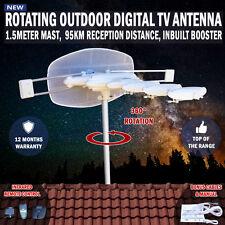 NEW Rotating Outdoor Digital TV Antenna Remote Aerial HDTV UHF VHF Rv, Caravan