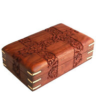 Beautiful Wooden Designer Carved Multipurpose Jewellery box For Diwali Gift Item