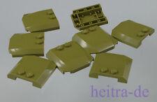 LEGO -  8 x Autodach Motorhaube 4x4x2/3 oliv - grün / Wedge / 45677 NEUWARE