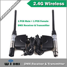 W-DMX Wireless DMX512 Transmitter and Receiver, 1 Male  and 1 Female