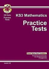 CGP KEY STAGE 3 MATHS THE PRACTICE TESTS 3 COMPLETE TESTS & ANSWERS KS3 2014