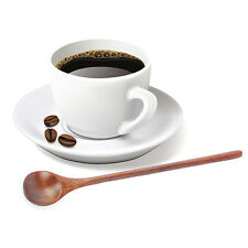 Wooden Bamboo Spoon Soup Coffee Tea Handmade Handle Rice Cooking Utensil Kitchen