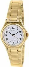 Casio LTP1130N-7B Women's Standard Gold Tone Analog Easy Reader White Dial Watch