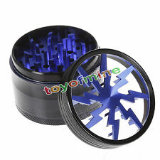 Blue Chromium Crusher 2.5 Inch 4 Piece Tobacco Spice Herb Grinder