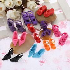 10 paires de haut talon chaussures bottes pour vêtements Robes Barbie Doll chaud