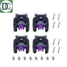 4 x Diesel Injector Plug / Electrical Connector - Mercedes C220 CDI Delphi Piezo