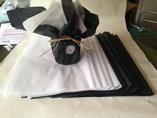 100% Black/ White  Tissue Paper - Gift Wrapping , 51cm x 38cm or 15 x 20 inches