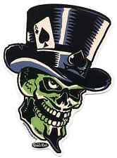 Green Skull Sticker Decal Vince Ray VR64