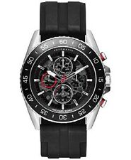 Michael Kors MK9013 Automatic Chronograph JetMaster Black Silicone Strap Watch